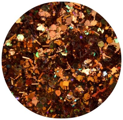59. Bruin-bronze glitters
