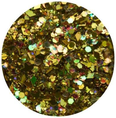 58. Groen-gele glitters